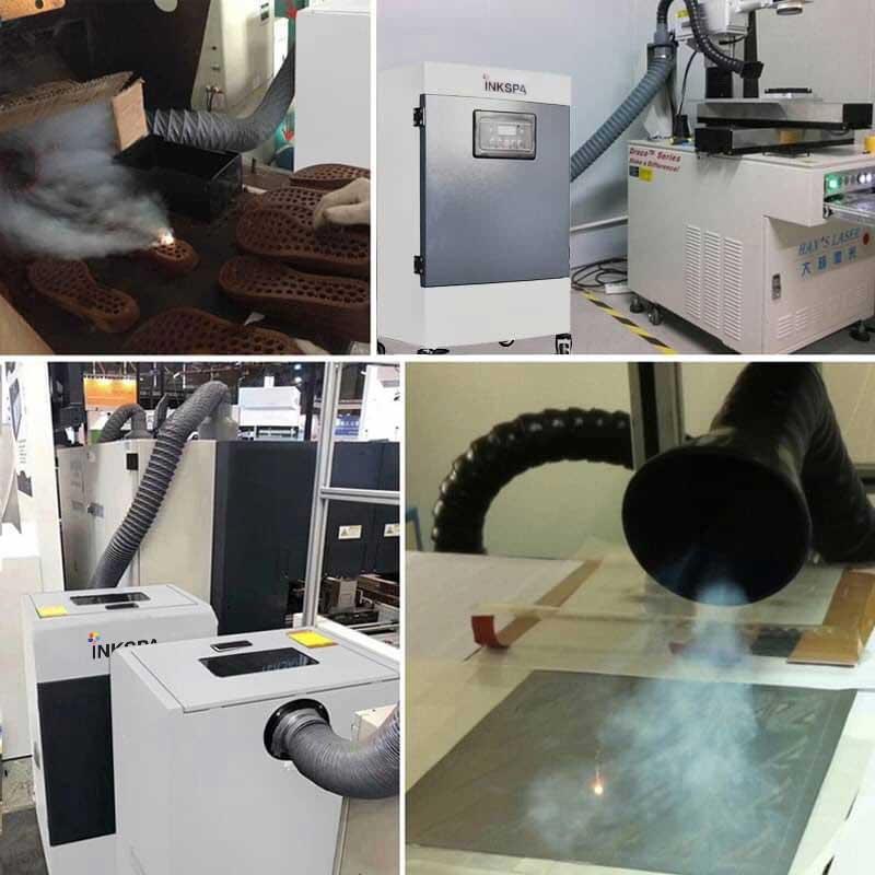 เครื่องดูดควัน สำหรับเครื่องตัดเลเซอร์, เครื่องเชื่อมเลเซอร์, เครื่องพิมพ์, บัดกรี, แกะสลัก, การรมยา, แล็บเคมี, ปริ้นเตอร์อินดอร์, ปริ้นเตอร์เอ้าดอร์, เครื่องพิมพ์โซเว้นต์, เครื่องพิมพ์อีโคโซเว้นต์, เครื่องพิมพ์ยูวี