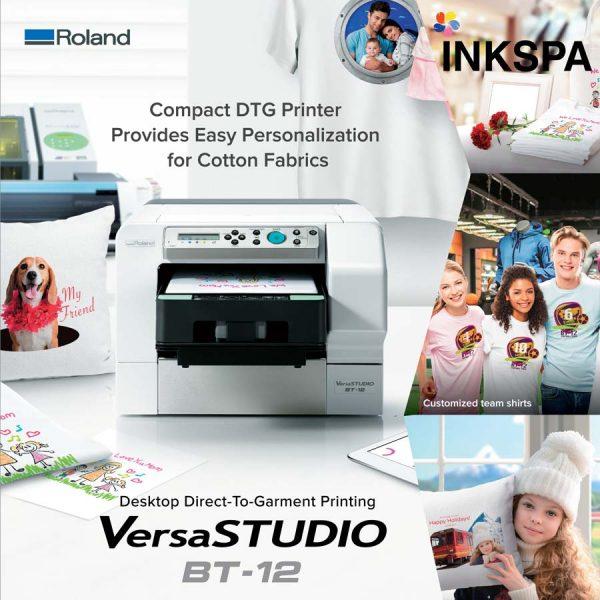 Roland BT-12, VersaStudio, เครื่องพิมพ์ DTG, เครื่องพิมพ์เสื้อ, DTG Printer, เครื่องสกรีน, เครื่องสกรีนเสื้อ, เครื่องdtg