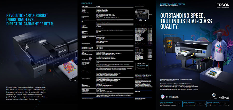 epson f3030 dtg printer เครื่องพิมพ์ dtg ใหม่ล่าสุดของปี2021