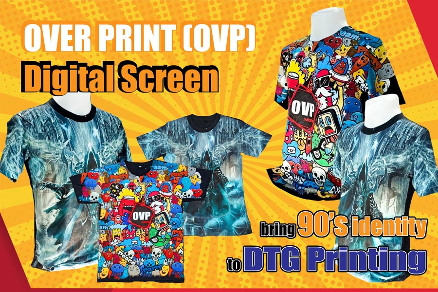 เครื่องสกรีนเสื้อ เครื่องพิมพ์เสื้อ dtg ovp over print epson f2130