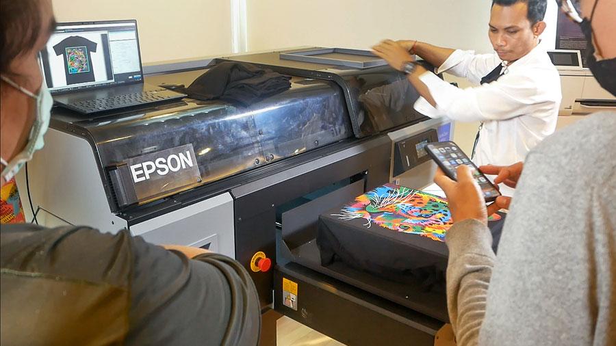 ฝึกอบรม epson sc-f3030 เครื่องพิมพ์ dtg