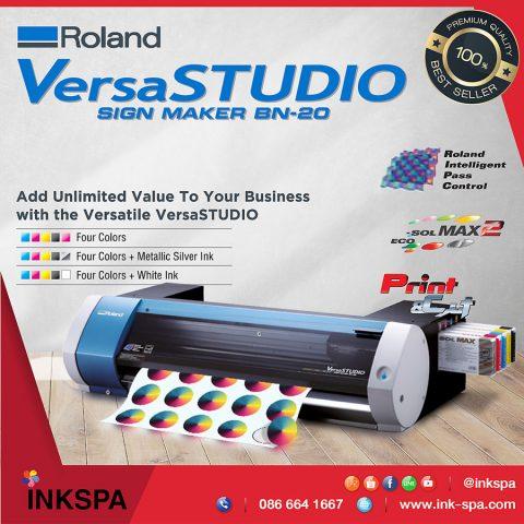 เครื่องตัดสติกเกอร์ ตัดเฟล็ก เครื่องพิมพ์ roland bn-20